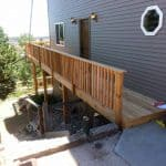pic of a multitiered deck w/under-decking built in Fort Collins, CO