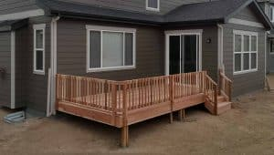 pic of a wood deck built in windsor, co