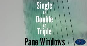 This is the post main image for an article called single vs double vs triple pane windows